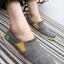 พร้อมส่ง รองเท้าผ้าใบ ผู้ชาย สีเทา แต่งหัวรองเท้าด้วยหนัง เบา ใส่สบาย ใส่เที่ยว รองเท้าผู้ชาย thumbnail 3