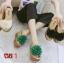 รองเท้าแตะส้นเตารีด ประดับพู่ดอกฟูด้านหน้า น่ารักมาก thumbnail 1