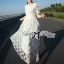 Lady Sienna Classic Vintage White Lace Dress thumbnail 7