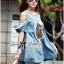 Lady Ribbon's Made Lady Alexa Sequin Horse Cut-out Denim Dress thumbnail 4