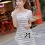 Lady Cherline Smart Casual Striped Lace Dress thumbnail 1