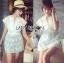 Lady Ribbon's Made Abigail Pretty and Sexy White Lace Mini Dress thumbnail 7