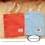 PB026กระเป๋าผ้าคอตต้อนลายจุดเลือกสีได้พร้อมสกรีน ม้วนผูกโบว์ thumbnail 1