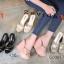 รองเท้าส้นเตารีดแฟชั่น แบบส้นตึกอันดับหมุดทองด้านหน้าส้นสูงประมาณ 4.5 นิ้ว thumbnail 5