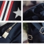 กระเป๋าเป้แบ็คแพ็ค วัสดุ NYLON เนื้อเงาหนา 2ชั้น คุณภาพ Premiem สรีนลายดาว thumbnail 6