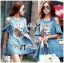 Lady Ribbon's Made Lady Alexa Sequin Horse Cut-out Denim Dress thumbnail 2
