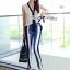 Lady Ribbon's Made Lady Jaime Sleeveless Bow Top and Skinny Striped Pants Set thumbnail 2