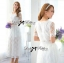 Lady Sienna Classic Vintage White Lace Dress thumbnail 3