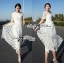 Lady Sienna Classic Vintage White Lace Dress thumbnail 8