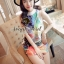 Cami ChillChill Graphic Mix Color Dress by Seoul Secret thumbnail 2