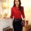 เสื้อเชิ้ตสีแดงต้อนรับตรุษจีนประดับปกเพชร thumbnail 1