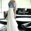 Maxi Dress Long Style Korea Two Tone thumbnail 2