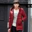 พร้อมส่ง เสื้อโค้ท ผู้ชาย สีแดง เสื้อกันหนาว ตัวยาว มีฮู้ด ซิปหน้าเต็มตัว มีซับใน thumbnail 1