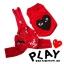 เสื้อหมา ชุดเอี๊ยมหมา PLAY สีแดง พร้อมส่ง thumbnail 1