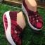 รองเท้าเพื่อสุขภาพใส่สบายยืดหยุ่นกระชับเท้าเสริมส้นด้านหน้าเล่นลวดลายสายไขว้ thumbnail 2