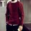 เสื้อไหมพรม สีแดง คอกลม แขนยาว สเวตเตอร์ผู้ชาย ผ้านุ่ม ใส่กันหนาว thumbnail 1