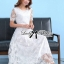 Lady Sienna Classic Vintage White Lace Dress thumbnail 5