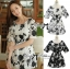Lady Ribbon's Made Lady Rosie Classic Black and White Flowery Print Dress thumbnail 3