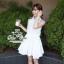 푸싱데이지 Pure white lily mini dress thumbnail 4
