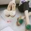 รองเท้าแตะส้นเตารีด ประดับพู่ดอกฟูด้านหน้า น่ารักมาก thumbnail 3