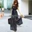 Jolie By D-Sai JumpSuit Chiffon Stripe White & Black Style Korea thumbnail 4