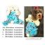 PRE เสื้อกันหนาวน้องหมาแฟนซี มีฮูทหัวกระต่าย สีฟ้า thumbnail 1