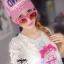 Crytal perfume lace t-shirt and pink shorts&#x2605 thumbnail 4