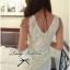 Lady Ribbon's Made Lady Lolita Sweet Sexy White V-back Lace Dress thumbnail 4