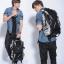 Pre-Order กระเป๋าแฟชั่นผู้ชาย กระเป๋าเป้ MCYS&JPN สีดำ จุของได้เยอะ ใส่ iPad ได้ ใส่โน้ตบุคได้ สะพายสไตล์เท่ห์ แบบ backpack thumbnail 3