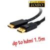 สายแปลง display port to HDMI ยาว 1.5m มีเสียงด้วย