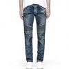 กางเกงBalmain Biker Blue Stretch Jean