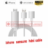 Lighting ios samsung s6/7 huawei P8/9 2in1 hdmi cable 80cm