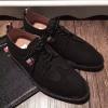 รองเท้าหนังThom Browne Nubuck Ribbon Brogues สีดำหนังกลับด้าน37-44