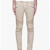 กางเกง BalmainBeige Slim Biker Jeans