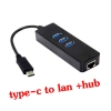 usb type-c 3.1 to lan Gigabit Ethernet with hub usb 3.0