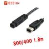 สาย IEEE firewire1394 800ไป400 6Pหัวใหญ่ 1.8m