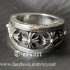 แหวนChrome Hearts CrosswiseเกรดMirror1:1