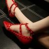 รองเท้าผู้หญิง VALENTINO STUDDED BALLERINA FLATS 1:1