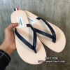รองเท้าแตะTHOM BROWNE Tricolour Leather SandalSS16 สีดำ (Engraved Grade 1:1)