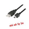 ส่ายUSB 2.0 Am to mini usb 5p 3m แบบดี