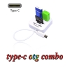สายแปลงOTG usb 3.1 type c card reader combo usb 3.0