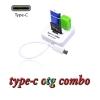 สายแปลงOTG usb 3.1 type c card reader combo usb 3.0