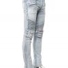 กางเกงBalmain Light Blue Destroyed Stretch Denim Jeans28-36