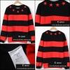 เสื้อยีดแขนยาวGivenchy Star Striped Red/Black