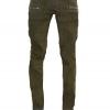 กางเกงBalmain Cotton Denim Cargo Biker Jeans
