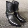 รองเท้าSaint Laurent Chain Harness Boots In Black (1:1)
