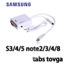 Samsung สายแปลงMHL micro usb to VGA ต่อจาก samsung s3 note8 note2 tabs เข้า จอ กับ Projector-white