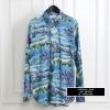 เสื้อเชิ้ตSaint Laurent Hawaii Printed Viscose Shirt