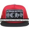 หมวกCHROME HEARTS CH RED/BLACK TRACKER CAP 1:1