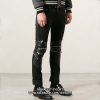กางเกงยีนส์Saint Laurent Zipper Biker Denim Jeans